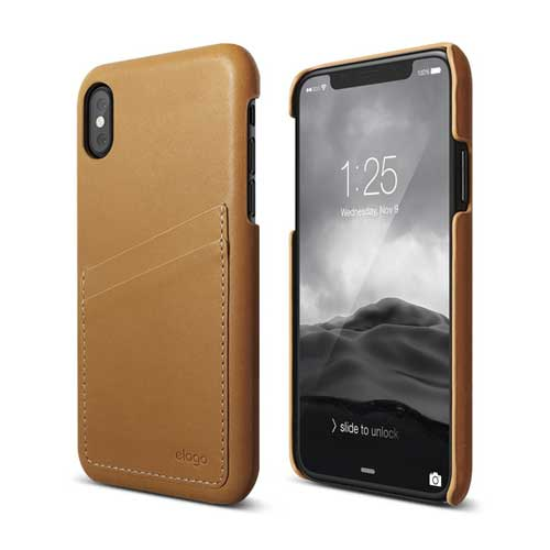ELAGO Genuine Leather Case Brown iPhone X