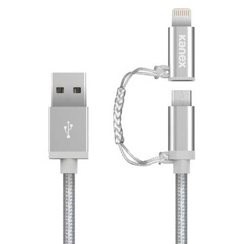 KANEX Braided Premium Micro USB & Lightning Cable